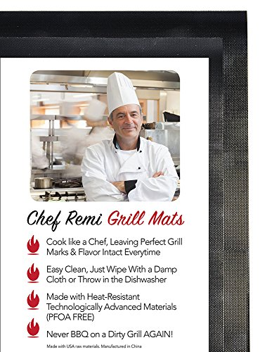 Gas Grill Chef Remi Bbq Grill Mats 2 Pack Use On Gas